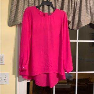Beautiful hot pink high/low blouse